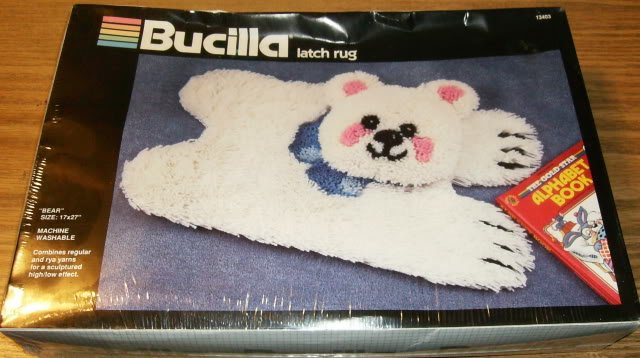 FURRY BEARSKIN RUG FROM BUCILLA - FUN RUG FOR ANY AGE