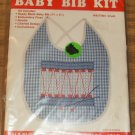 BLUE GINGHAM DRUM BABY BIB KIT CHICK SCR WANG'S INTER