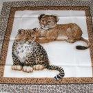 Leopard Baby Pillow Panel Front - Cute Little Kitties