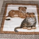 Leopard Baby Pillow Panel Front - Sweet Faces