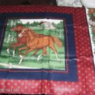 Beautiful Horse & Colt & Running Horses Pillow Panel 1