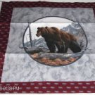 Wolf & Bear Pillow Panel - Makes a Beautiful Pillow