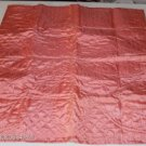 Quilted Satin Pillow Cover - Pretty Tangerine Color