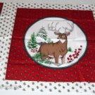 Christmas Deer Doe & Buck Pillow Panel-Hollyberries