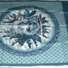 White Wolf Pillow Panel Front -Stunning Head Shot