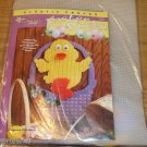 EASTER DUCKY WALL HANGING- 7 COUNT CANVAS - ADORABLE