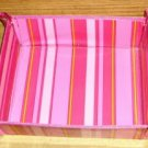 Cute Pink Striped Catch-all, Folds Flat when Not in Use