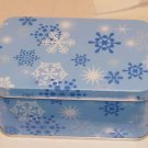 2 Snowflake Tins- Small Size- Useful for Little Items