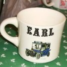 Antique Car Coffee Cup, Personalized for Earl,Nice Cup