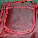 SHINY RED MAKEUP BAG, VERY NICE,HANG TO USE, NEW