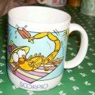 Scorpio Horoscope Coffee Cup, Orange Scorpion, Cute Cup