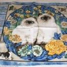 Fluffy White Kittens Pillow Panel