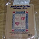 I LOVE YOU ANTIQUED QUILT FROM STITCHABLES