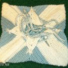 Nice Blue and White Crocheted Purse
