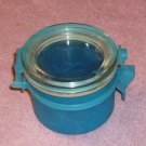 Blue Container With 8 Plastic Bowl Covers, Many Uses