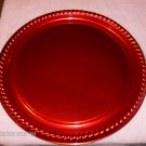 Shiny Red Plastic Serving Tray,Festive & Bright,Useful