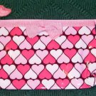3 COLOR HEART COSMETIC BAG, BRIGHT & PRETTY, NEW