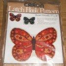 Shaped Butterfly Latch Hook Rug Pattern From Caron NIP