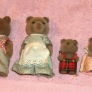 Adorable Bear Family, Mom, Dad,Sister,Brother, Cute