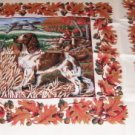 Hunting Dogs & Autumn Leaves Pretty Pillow Panel