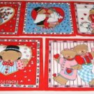 5 Bear Sweetheart Panels - Quilt,Wall Hanging, Picture1