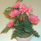 Pretty Pink Bouquet of Flowers in Clay Pot- No Watering