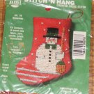 STITCH N HANG SNOWMAN ORNAMENT FROM NEEDLEMAGIC NIP