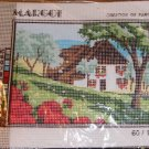 SPRINGTIME COTTAGE IN WOOD WITH ROSES CANVAS - MARGOT