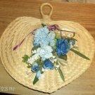 Wicker Heart w/ Flowers & Ribbons - Pretty