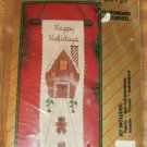 HOLIDAY GINGERBREAD HOUSE HAPPY HOLIDAY BELL PULL - NIP