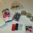 Assorted Lot of Pushpins,Clips,Colorful,Useful,Designs