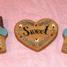 Wood Home Sweet Home Wall Grouping, 3 pieces, Pretty