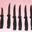 11-Pc Black Steak Knife Utensil Set, Stainless Steel