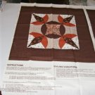 Brown Tulip Floral Pillow Panel - Quilted Look