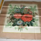 Flower Bouquet Pillow Panel - Brown & Peach
