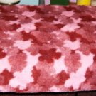 2 TONED PINK THROW - WARM , PRETTY, SNUGGLY TYPE