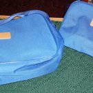 BLUE 2 PIECE BAG SET - NICE SIZE FOR OVERNIGHT TRIPS