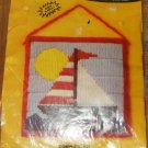 SAILBOAT BEGINNERS NEEDLEPOINT KIT - QUICK & EASY TO DO