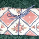 FLORAL JEWELRY BAG OR MAKEUP BAG - TIES SHUT - NEW