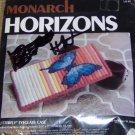 BUTTERFLY EYEGLASS CASE-MONARCH HORIZONS-PINK & BLUE