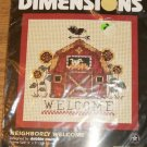 NEIGHBORLY WELCOME DIMENSIONS PICTURE BY DEBBIE MUMM