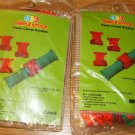 RED AND GREEN NAPKIN RINGS - 2PKGS-NEW- XMAS BOW