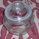 SMALL GLASS CANDY DISH OR STORAGE JAR