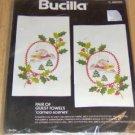 BUCILLA CAMEO SCENES  GUEST TOWELS, NIP