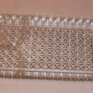 Clear Glass Relish Tray, Patchwork Design,Divided