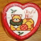 JOYFUL NOEL CAT JAR-HEART SHAPED - CUTE-NEW