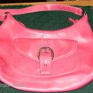 PINK HOBO WITH PATCH POCKET AND BUCKLE - PRETTY