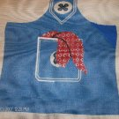 SPINNERIN NEEDLEPOINT TOTE BAG CANVAS - DENIM LOOK