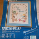 VINTAGE BABY BEAR SAMPLER FROM VOGART - CUTE ROLYPOLYS