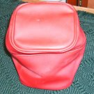 Red Vinyl Square Cosmetic Bag, or Grt Storage Bag, New
